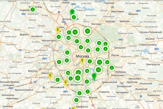 Карта стартовых площадок по программе реновации
